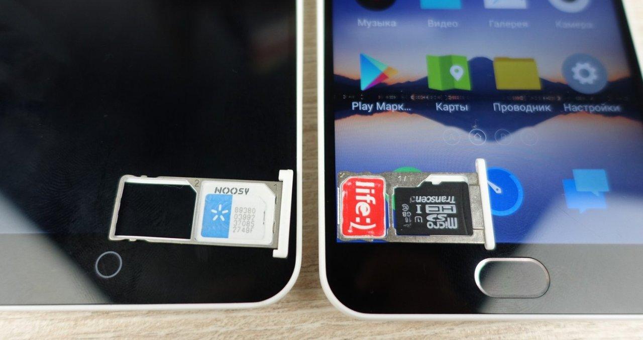 Как установить сим карту в смартфон компании Meizu