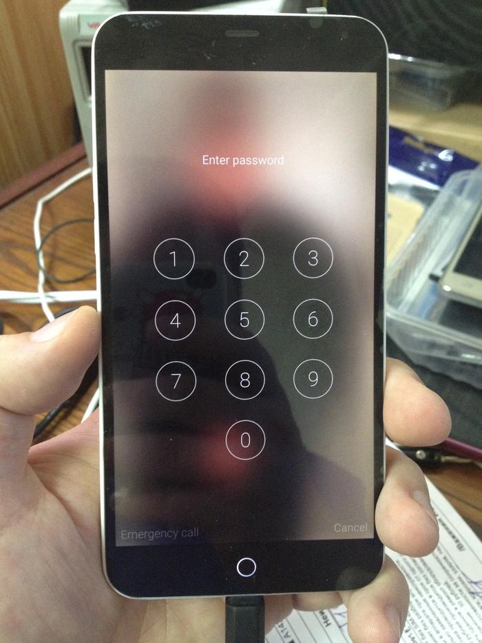 Разблокировка Meizu M3 Note, если забыл пароль