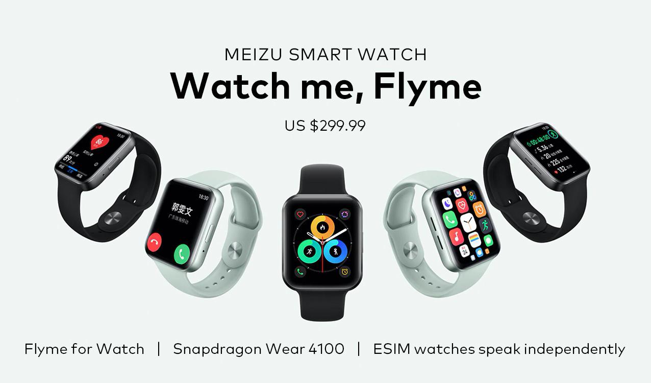 Meizu Watch с eSIM, Flyme и NFC стали доступны на AliExpress
